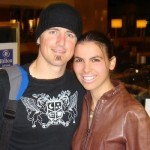 Dimitra with Daniel Adair (drummer for Nickelback)