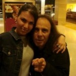 Dimitra with Ronnie James Dio