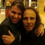 Dimitra with Ronnie James Dio 2